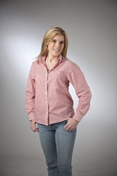 Picture of Stripe Classic Blouse Cotton Rich Australian Made