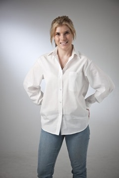 Picture of Self Stripe Classic Blouse Cotton Rich Australian Made