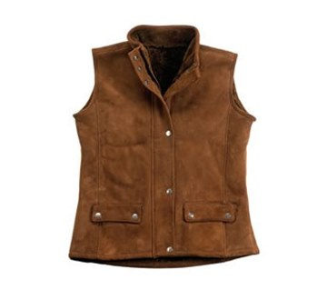 Picture of Kimberley Womens Sheepskin Vest by Wild Goose VT-401 SALE PRICE