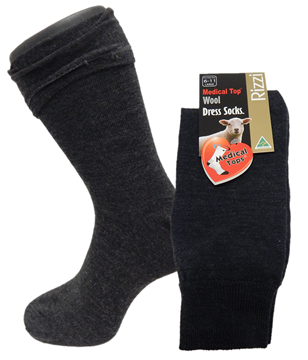 Picture of Rizzi Wool Blend Medical Top Dress Sock