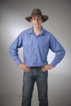 Picture of Chambray Countryman Shirt Pure Cotton Australian Made