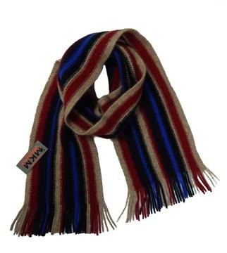 Picture of MKM Possum Merino Wool Stripe Scarf- Flax