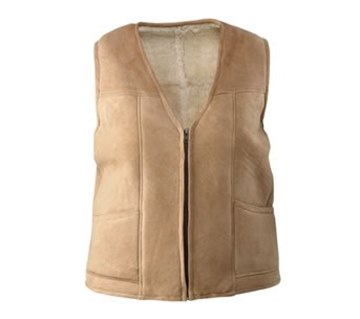 Picture of Zip Sheepskin Vest by Wild Goose VT-101 Unisex