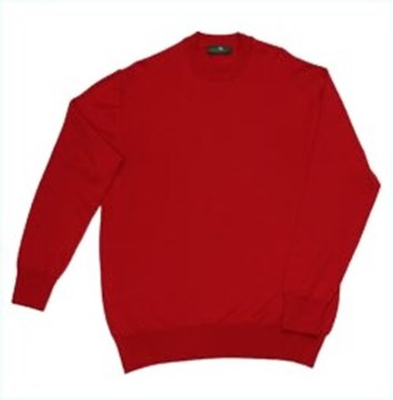 Picture of Merino Gold Fine Gauge Crew Neck Jumper