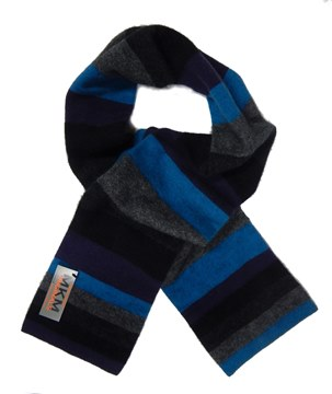 Picture of MKM Possum Merino Wool Stripe Scarf - Blackcurrant