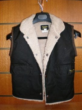 Picture of Childs Brown OilSkin Vest Sherpa Wool lining (700) by Wild Rider