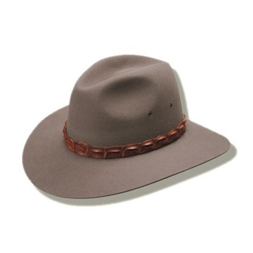 Picture of Akubra Coolabah hat Geniune Croc Hatband
