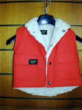 Picture of Childs Red DrySkin Vest Sherpa Wool lining (701) by Wild Rider