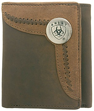 Picture of Ariat Tri-fold Wallet - Brown / Lite Tan