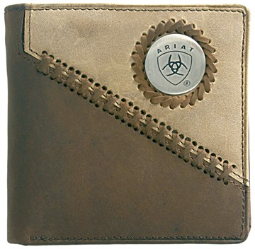 Picture of Ariat Bi Fold Wallet - Brown/ Fawn