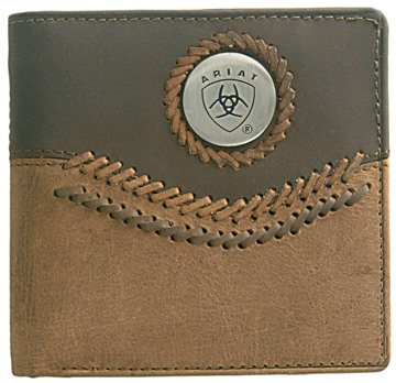 Picture of Ariat Bi Fold Wallet - Chestnut / Brown